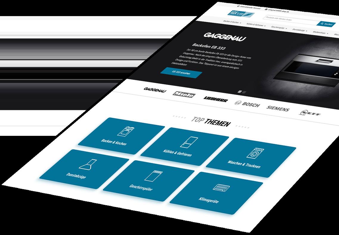 A&K 10.000 Responsive Webdesign