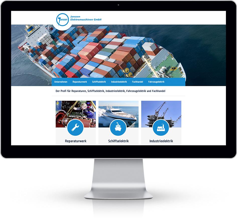 Janssen EMA Startseite auf Desktop
