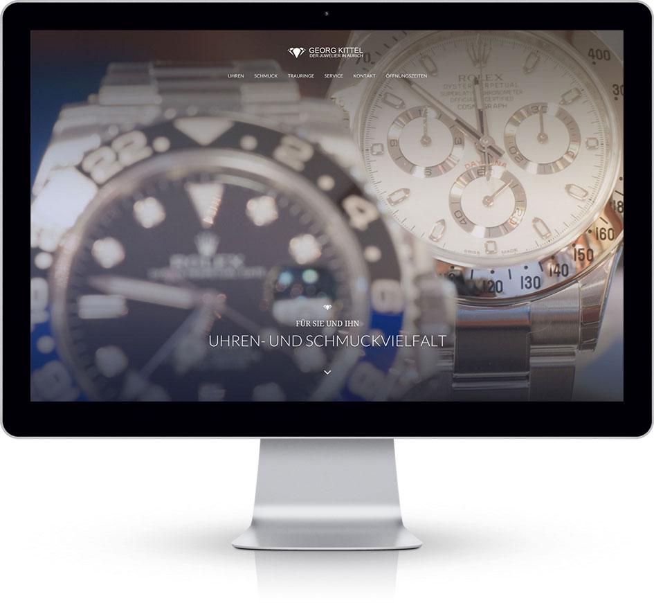Juwelier Kittel auf dem Desktop