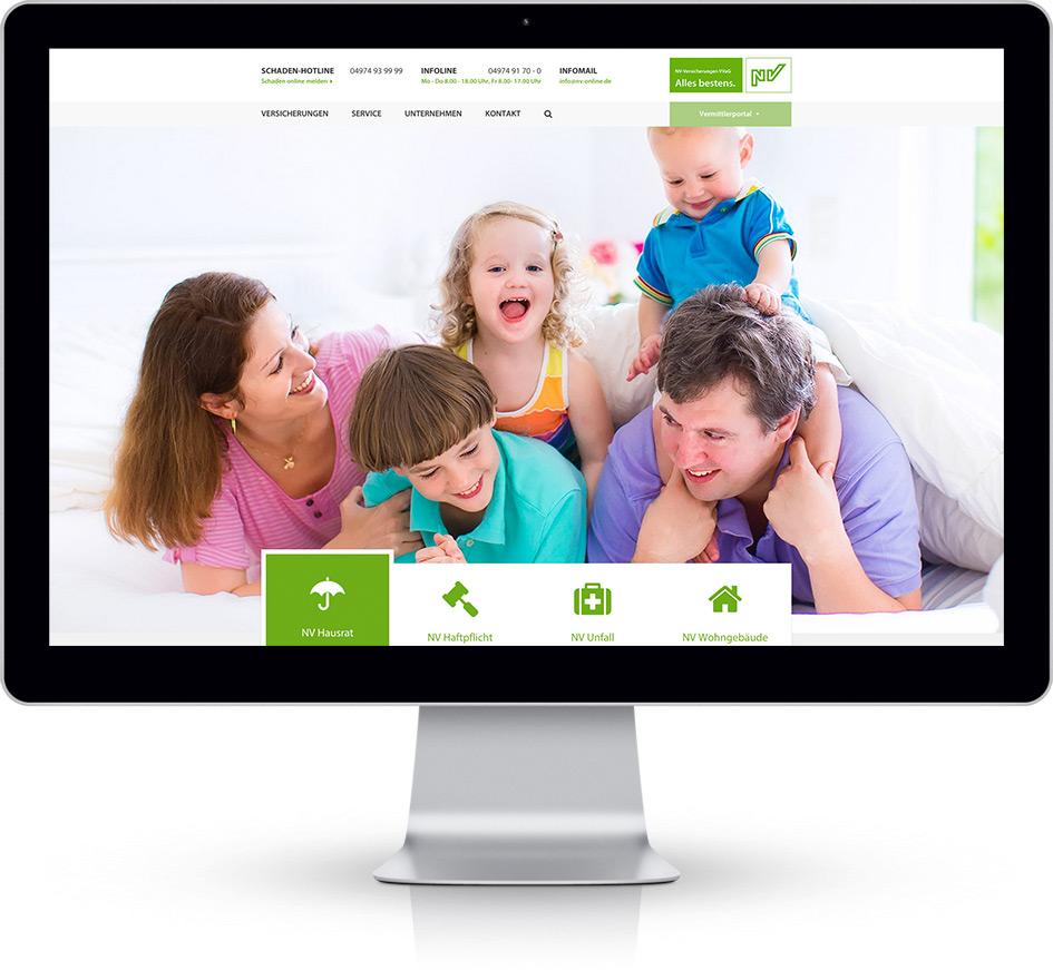 NV-Versicherungen auf dem Desktop